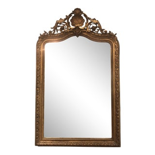 Antique French Louis Phillipe Mirror With Crown