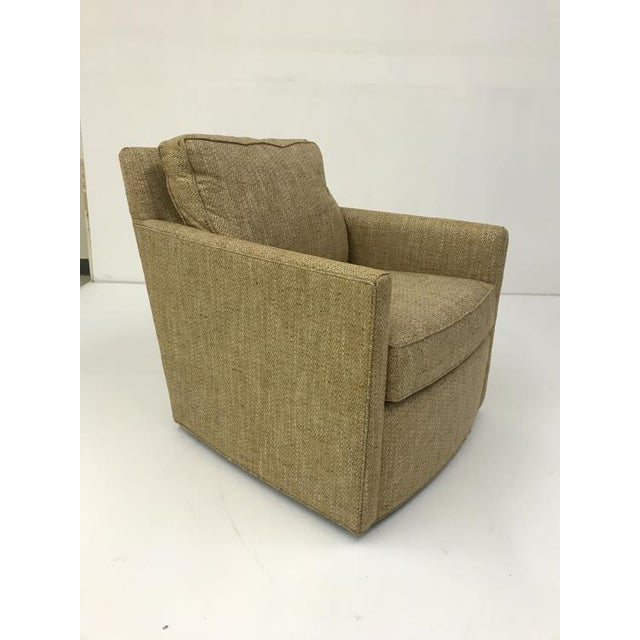 Transitional Century Furniture Willis Swivel Chair For Sale - Image 3 of 5