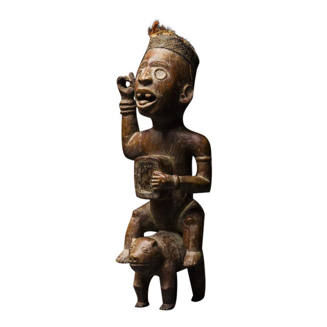 Kongo Wooden Nkisi Sculpture of a Rider For Sale