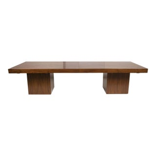John Keal for Brown Saltman Long Extendable Cocktail Table For Sale