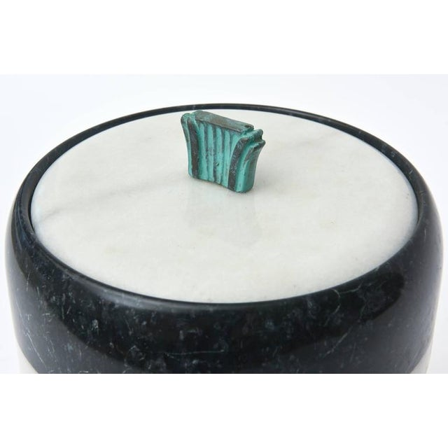 Marble Mid-Century Georges Briard Marble and Bronze Ice Bucket For Sale - Image 7 of 10