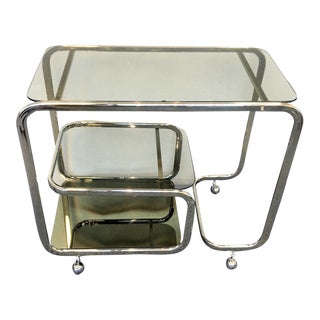 Milo Baughman Style Bar Cart For Sale