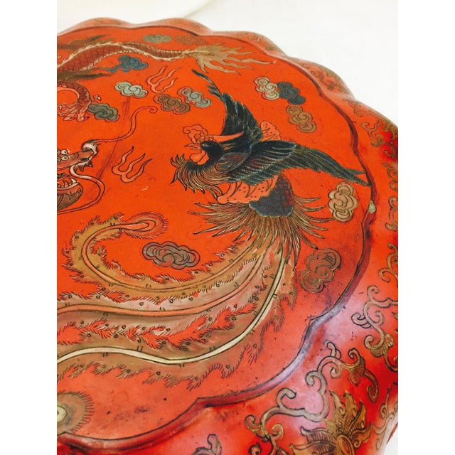Metal Antique Asian Sewing Box For Sale - Image 7 of 11