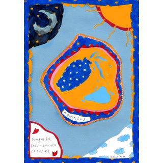 """""""Aquarius Star Sign"""" Contemporary A4 Giclée Print For Sale"""