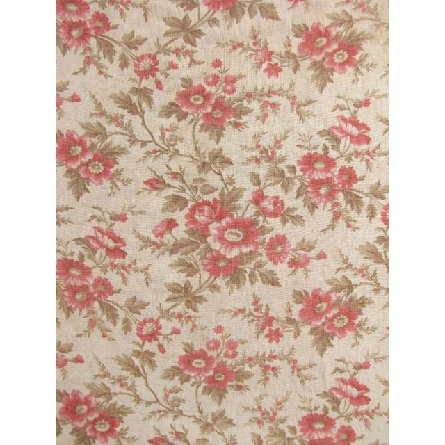 A charming antique French textile! This textile was most likely used as a bed curtain, perhaps reused at a later date. The...