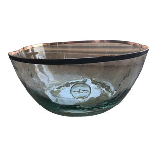 Glass Bowl With Decorative Demijohn For Sale