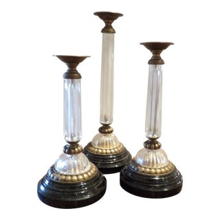 Maitland Smith Large Candle Holders - Set of 3 For Sale