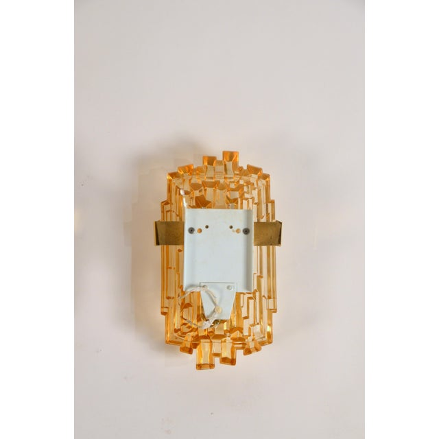 1970s Chic French Brutalist Glass Sconces - a Pair For Sale - Image 10 of 10