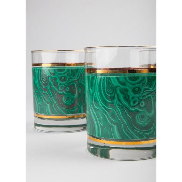 Set of 6 Nieman Marcus Malachite Glasses For Sale - Image 4 of 6