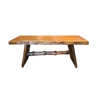 Southern Pine Natural Wood Bench For Sale