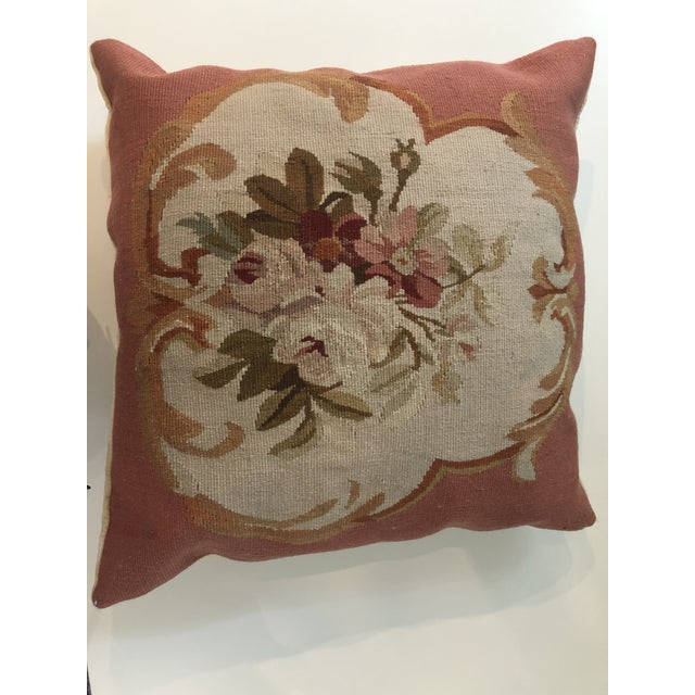 Lovely Aubusson pillow that will add character to any seat. Made in the 1980s.