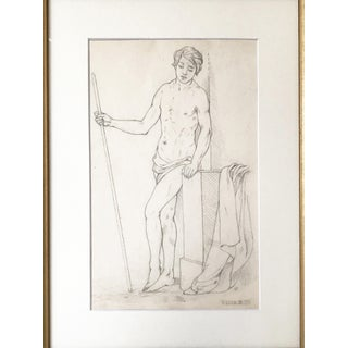 19th Century Neoclassical Drawing of a Greco Roman Male Nude Preview