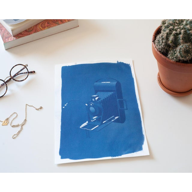 Cyanotype Print - Vintage 4 x 5 Camera - Image 3 of 3