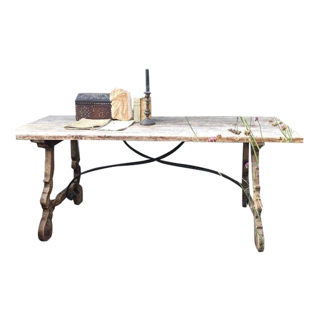 19th C Spanish Fratina Table For Sale