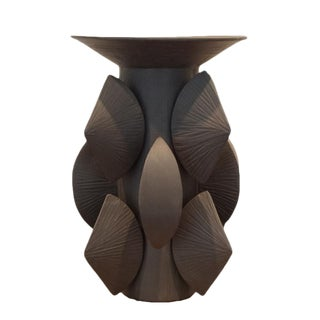 Contemporary Black Totem Small With Lip by Titia Estes For Sale