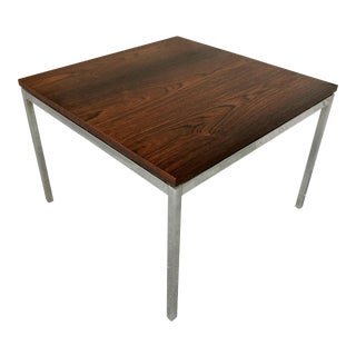 Mid Century Modern Florence Knoll for Knoll International Rosewood Square Top Side Table