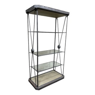 Large Iron and Glass Etageres For Sale