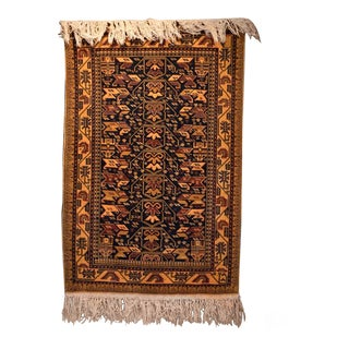 Late 20th Century Afghan Buluch Rug - 3′ × 5′4″ For Sale