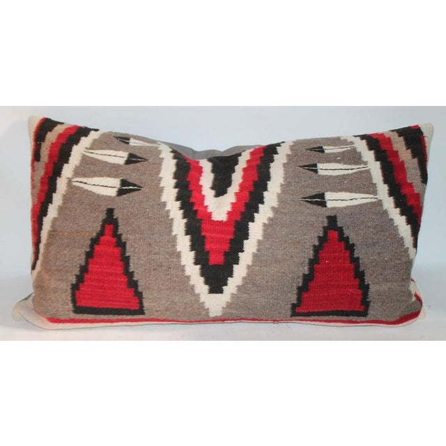 Navajo Indian Weaving Bolster Pillows - a Pair For Sale - Image 4 of 9