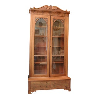 19th Century Gothic Bookcase / Display Cupboard For Sale