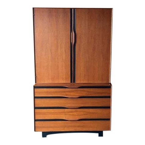 John Kapel Mid-Century Walnut Armoire - Image 1 of 8