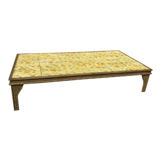 Vintage Italian Tile Top Coffee Cocktail Table, 1970s For Sale