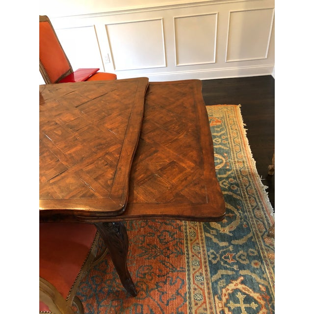 Traditional French Provencale Style Parquet Dining Table For Sale - Image 3 of 12