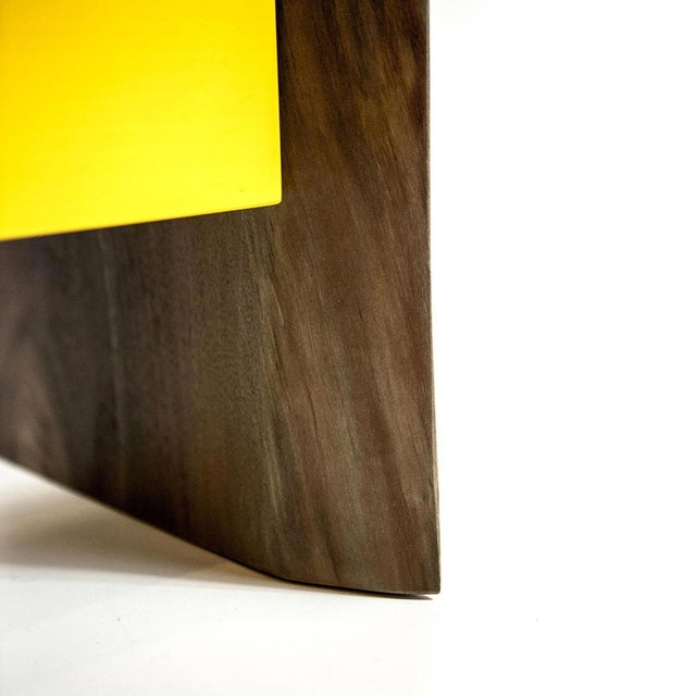 Live Edge Nightstand with Yellow Drawer - Image 8 of 8