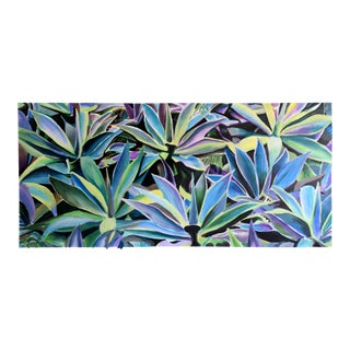 Contemporary Abstract Agave Wall Acrylic Painting
