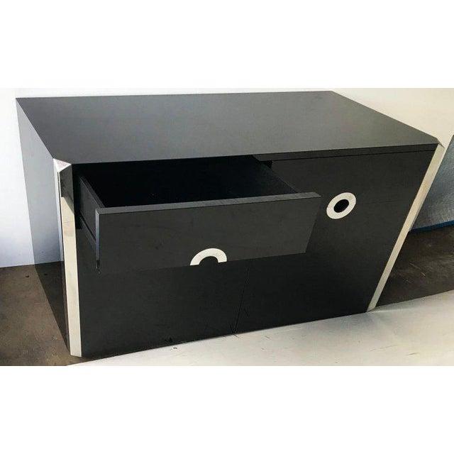 Mario Sabot Mario Sabot Black Laminate Sideboards - A Pair For Sale - Image 4 of 6