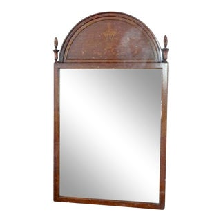 Inlaid Mahogany Wall Mirror For Sale