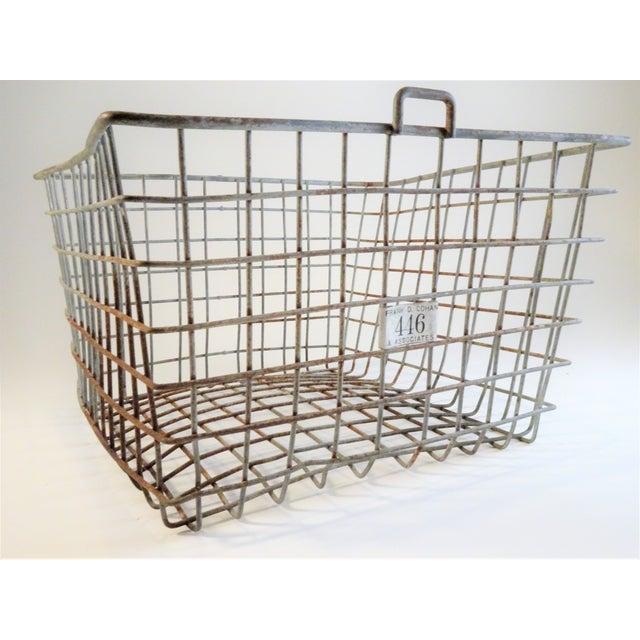 Vintage Wire Locker Baskets - Set of 3 For Sale - Image 4 of 11