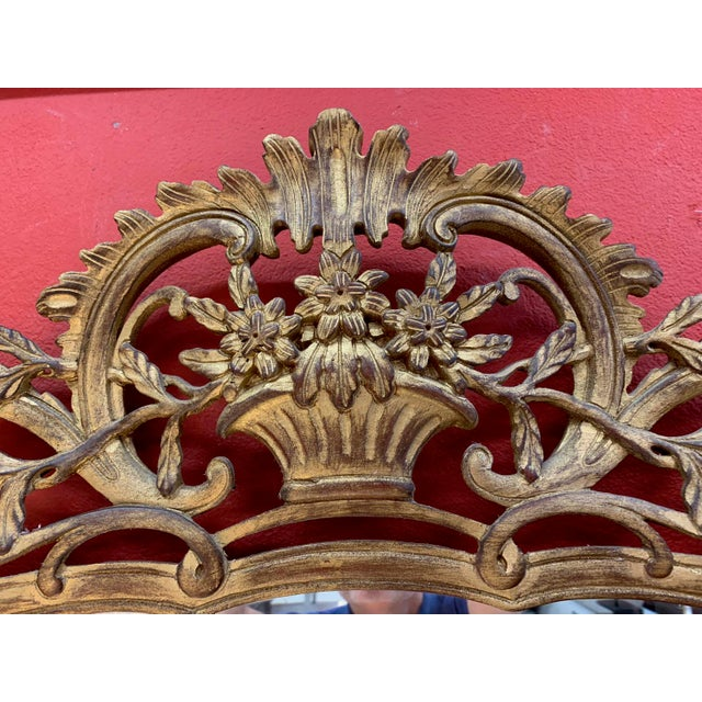 Baroque Giovanni Chelini Baroque Hand Carved Mirror For Sale - Image 3 of 6