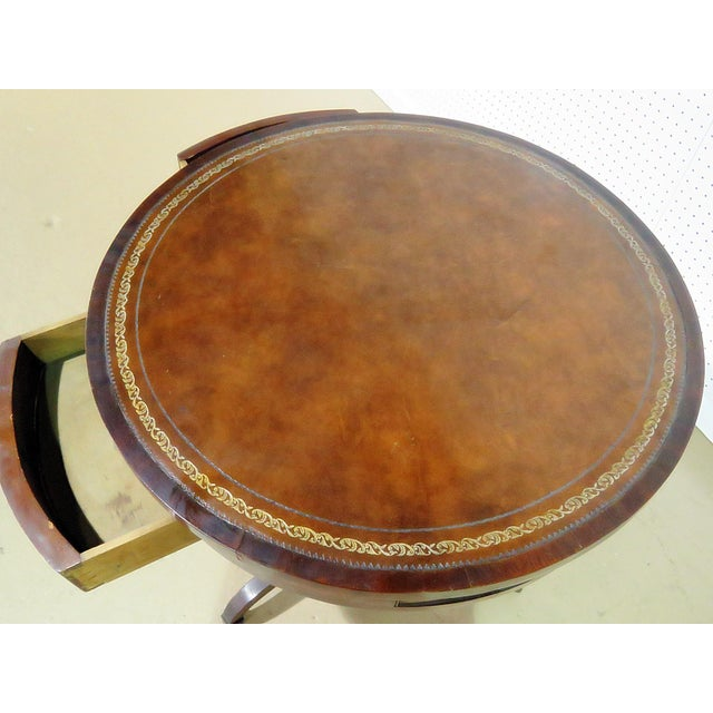 Traditional 19thC English Revolving Drum Table For Sale - Image 3 of 8