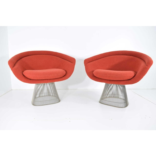 1960s Warren Platner Nickel Plated Lounge Chairs - a Pair For Sale - Image 10 of 10