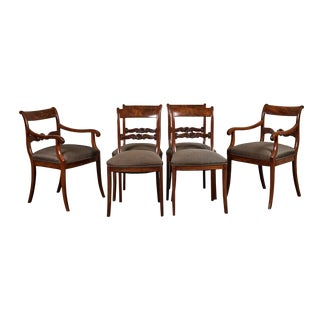 19th C. English Mahogany Dining Chairs - Set of 6 For Sale