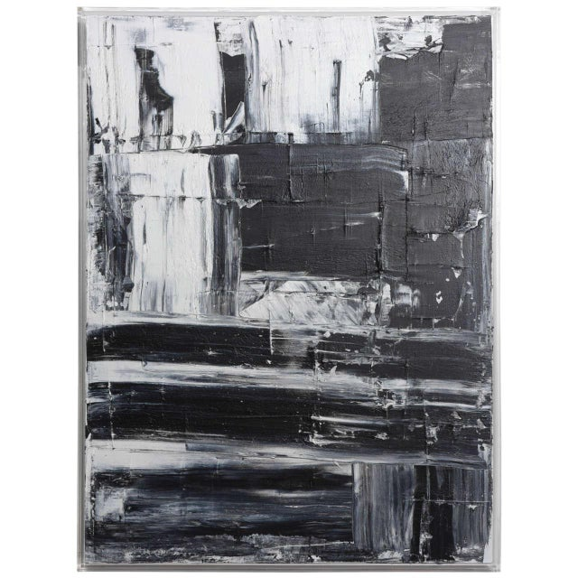 Abstract original oil on canvas. New series, black and white, 11 painting in total.