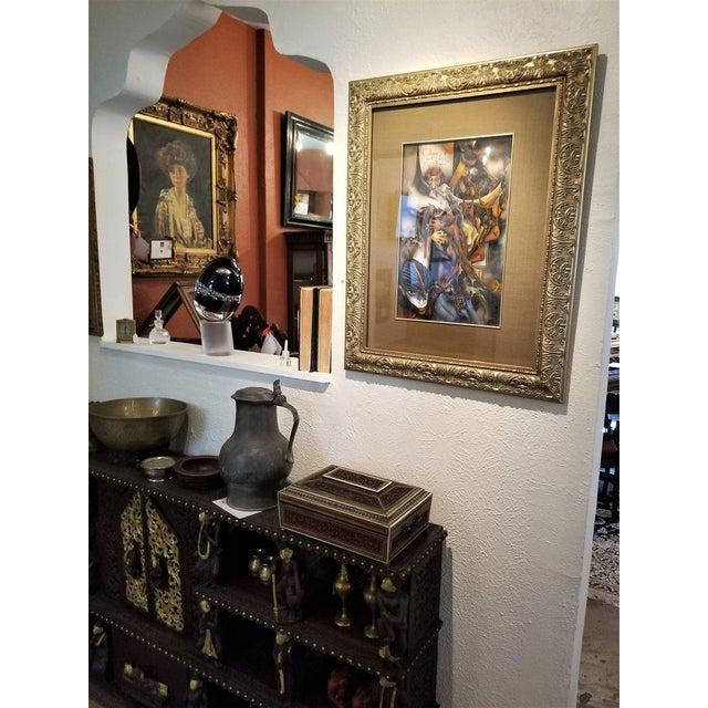 "Canvas Vladimir Ryklin ""Cirque De Soleil 1"" Oil Painting on Canvas For Sale - Image 7 of 10"