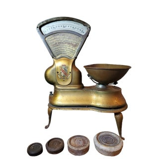 1920s AToledo Confectionary Sweet Shop Candy Scale For Sale