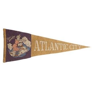Rare Antique Atlantic City Felt Flag Pennant