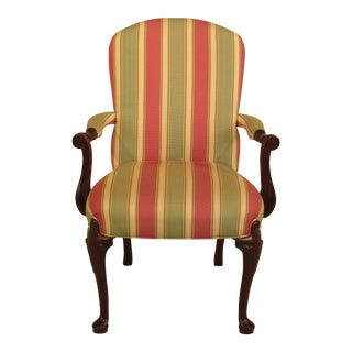 Hancock & Moore Audley Striped Mahogany Armchair For Sale