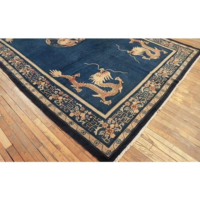 """Antique Chinese Peking Rug 7'0"""" X11'8"""" For Sale - Image 4 of 9"""