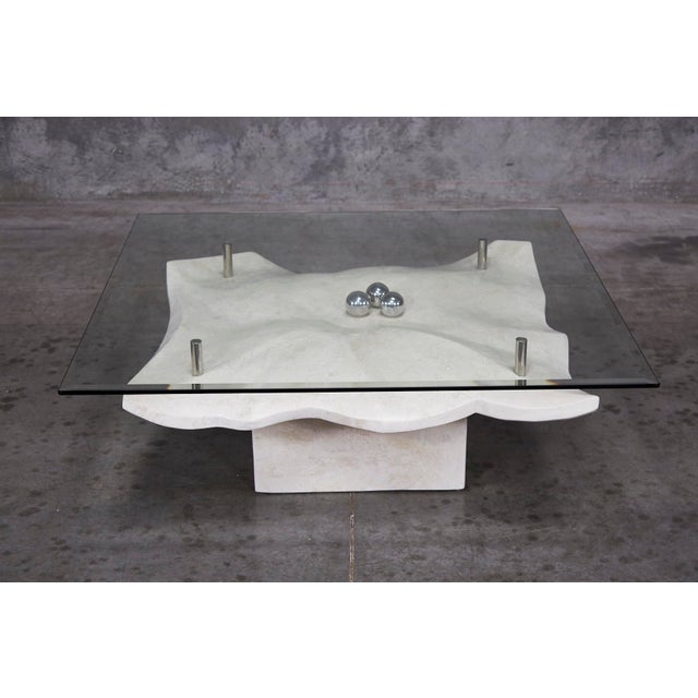 """1990s Post-Modern Tessellated Stone """"Chiseled"""" Cocktail Table For Sale - Image 13 of 13"""