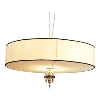 Tommi Parzinger Linen Chandelier For Sale