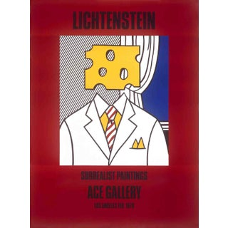 """Surrealist Paintings (Cheese Head)"" by Roy Lichtenstein For Sale"