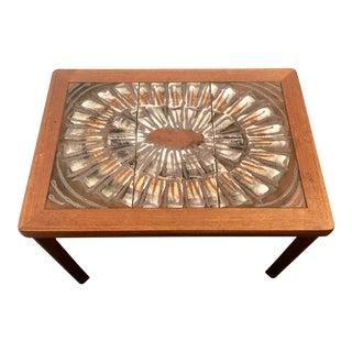1960s Danish Modern Tile-Top Teak Accent Table For Sale