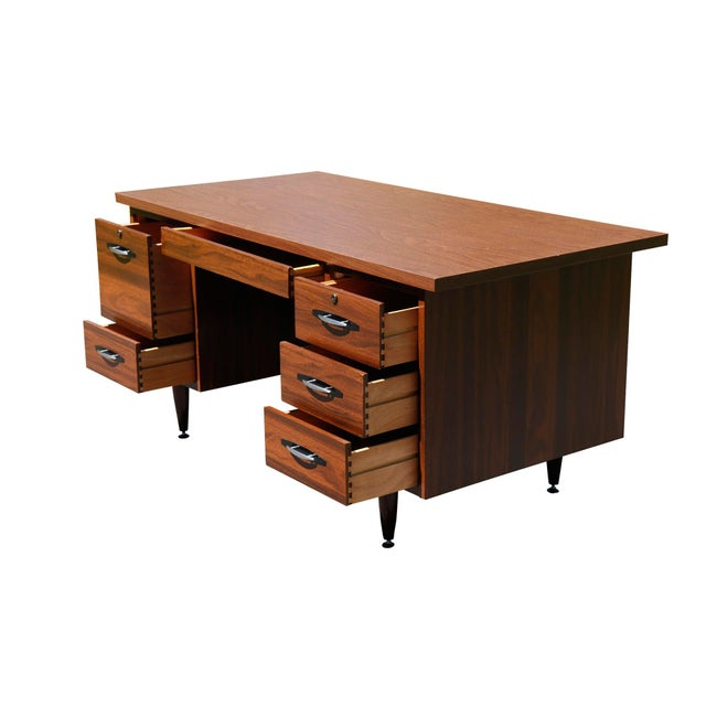 High Point Mid Century Executive Desk, High Point Furniture Industries