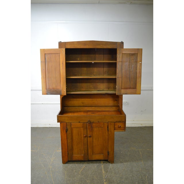 Antique 19th Century Country Poplar Dry Sink Cupboard For Sale - Image 12 of 13