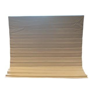 Restoration Hardware White Linen Roman Shade For Sale
