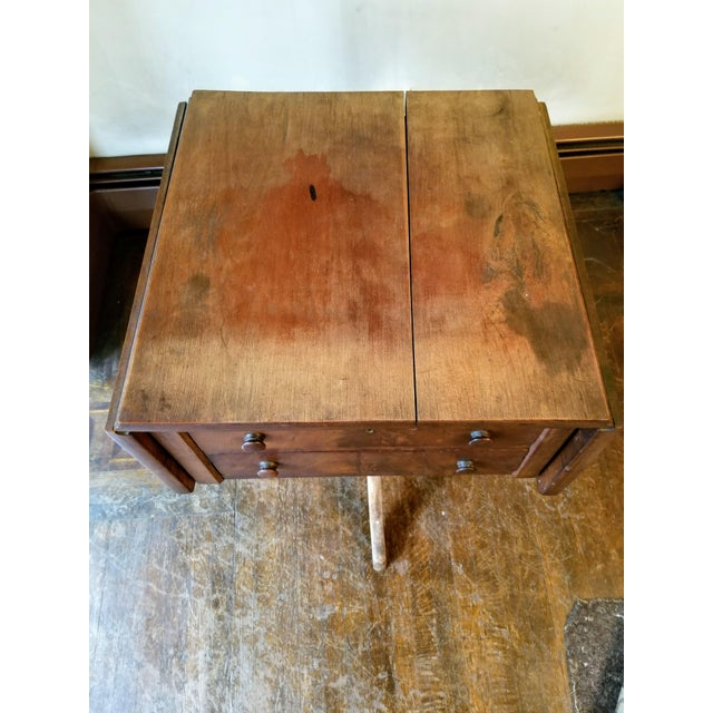 Mid 19th Century American Empire Mahogany Drop-Leaf Side Table For Sale - Image 5 of 6